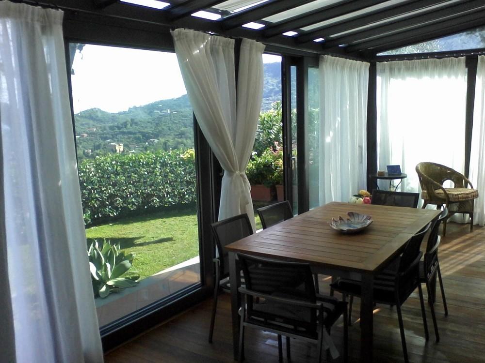 Tende per verande a vetri tenda sotto vetro per verande in legno